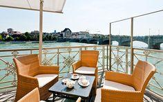 Bars in Basel: Terrasse des Les Trois Rois