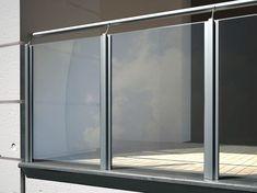 Resultado de imagen para barandas para balcones de vidrio