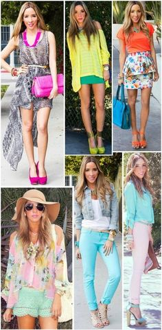 colors neon and pastels!!! sooo trendyy