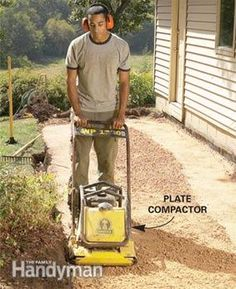 Landscaping: Tips for Your Backyard - Article: The Family Handyman Brick Path, Brick And Stone, Stone Walls, Stone Walkway, Brick Pavers, Front Yard Landscaping, Backyard Landscaping, Landscaping Ideas, Backyard Patio