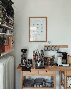 Coffee Nook, Coffee Bar Home, Coffee Mugs, Küchen Design, House Design, Interior Design, Design Studio, Entryway Furniture, Home And Deco