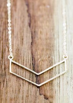 Kaimalie necklace  small gold chevron necklace by www.kealohajewelry.com