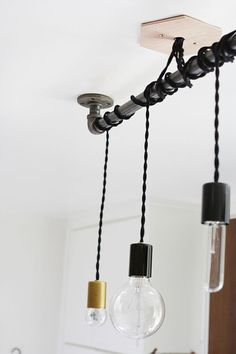4 Bulbs Edison chandelier Iron pipe light vintage Industrial, Antique Edison Bulb, Lamp, Rustic Lighting