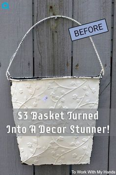 "How a thrift shopper gives a $3 tin hanging basket some ""TLC"""