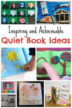 Inspiring and Achieveable Quiet Book Ideas - Crafts on Sea