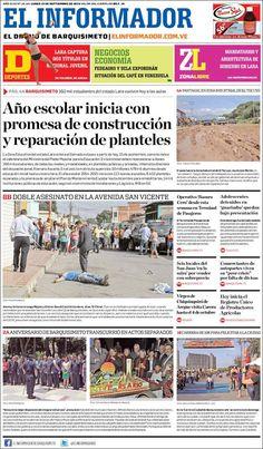 #Portadas #PrimeraPagina #Titulares #Noticias #DesayunoInformativo @elinformativove
