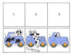 Láminas con secuencias temporales para trabajar con niños que tienen TEA y TGD. Mírame y aprenderás en Facebook