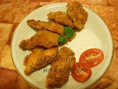 Recept Pikantní kuřecí stripsy - Naše Dobroty na každý den Meat, Chicken, Food, Syrup, Essen, Meals, Yemek, Eten, Cubs