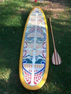 I really love paddleboarding. It's my favorite sport.