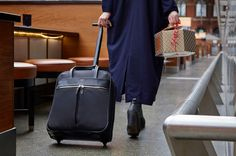 Knomo Burlington.The Burlington N/S Trolley is a wheeled business bag that is not only cabin sized, but also has the tech savvy traveller in mind. A practical design protects your laptop while internal pockets allow for easy organisation of belongings.