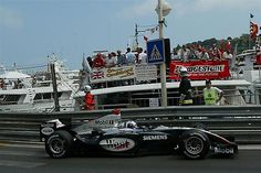 David Coulthard (GBR) McLaren Mercedes MP4/19 passes a yacht of his fans. Formula One World Championship, Rd 6, Monaco Grand Prix, Practice, Monte Carlo, 20 May 2004