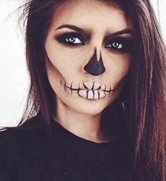 Here are 13 Easy Halloween Makeup Ideas that don't require any skill, extra props or costumes. All you need is a makeup palette, face paint, and eyeliner!