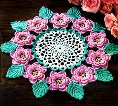 Rose Doily Irish Crochet PDF pattern 1957 by KnittyDebby on Etsy, $2.99