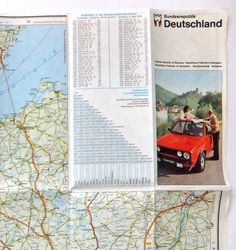 Federal Republic of Germany vintage map, 1970's Map of Bundesrepublik Deutschland by PeonyandThistle on Etsy https://www.etsy.com/listing/191867341/federal-republic-of-germany-vintage-map