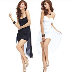 Free shipping 2014 spring new Hot European and American fashion Strapless Gauze splicing halter Slim package hip sexy dress $16.99