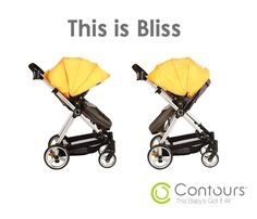 The Contours Bliss 4-in-1 Stroller has a reversible seat, so your child can face forward when exploring the sites or face you when you are sharing moments together!