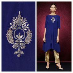#anitadongre #bridal #bride #brides #gotapatti #rajasthan #india #indian #handcrafted #handmade #pret #tunic #prints #embroidery Zardozi Embroidery, Hand Work Embroidery, Embroidery Motifs, Indian Embroidery, Embroidery Designs, Kurti Patterns, Dress Patterns, Ethnic Fashion, Indian Fashion