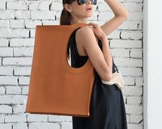 NEW Yellow Large Leather Bag/Extravagant Tote by Metamorphoza