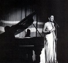 Billie Holiday, performing at the Savoy Ballroom, the Harlem club where my parents met.