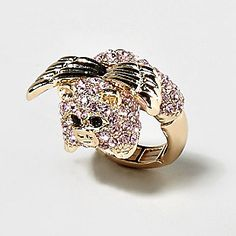 Jeweled Flying Pig Ring