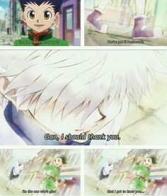 -Killua and gon (hunter x hunter)