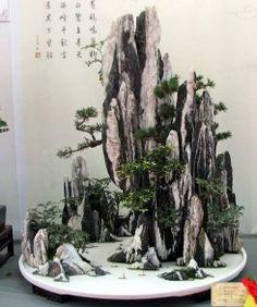 Unknown attribution(page in Vietnamese) Hòn Non Bộ(Vietnamese miniature landscape) terrarium/vivarium inspiration