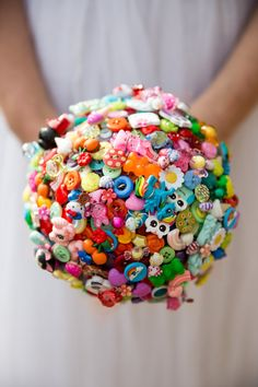 Harajuku Japanese inspired button bouquet by PumpkinandPye on Etsy