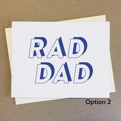 Great for showing appreciation, birthdays, saying thank you, and telling dad how cool he really is. Show Appreciation, Mom And Dad, Bro, Handmade Items, Birthdays, Dads, Sayings, Cool Stuff, Etsy