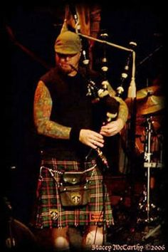 Scruffy Wallace from Dropkick Murphys  Tartan: Scottish National