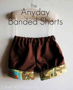 Shorts Tutorial- I love that I can find so many tutorials on sewing clothes. Sewing Kids Clothes, Baby Kids Clothes, Sewing For Kids, Baby Sewing, Free Sewing, Diy Clothes, Sewing Tutorials, Sewing Projects, Sewing Patterns