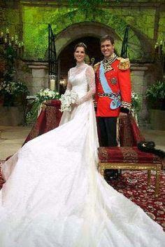 Prince Louis Alphonse, Duke of Anjou and Princess Marie Marguerite of Bourbon, Duchess of Anjou (née María Margarita Vargas Santaella) wedding.