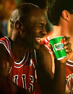Michael Jordan and Gatorade #Michael_Jordan #basketball