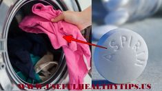 Throw An Aspirin Into The Washing Machine, The Reason Will Leave You Speechless! Diy Cleaning Products, Cleaning Solutions, Cleaning Hacks, Aspirin, Chamomile Essential Oil, Laundry Hacks, Laundry Rooms, Natural Cleaners, Clean House
