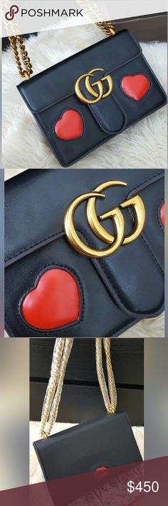 Gucci hearts leather bag BEAUTIFUL SHOULDER BAG- Brand new- price reflects so don't ask the obvious- INCREDIBLY HUGH QUALITY, satisfaction guaranteed! Most popular 2017 GUCCI style. Smoke free home  Gucci Bags Shoulder Bags