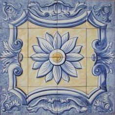 """1609 Portuguese panel tile from Portugal Portuguese all artisan clay majolica painted tiles panel - """" ALMOFADA POMBALINA """"Signed by Portuguese painterPanel size: x x each tile size: Tile Murals, Tile Art, Mosaic Tiles, Mosaics, Tile Panels, Portuguese Tiles, Style Tile, Art Clipart, Paint Shop"""