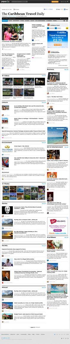 The Caribbean Travel Daily Vacation Deals, Caribbean, Tourism, June, Social Media, Island, Website, Paper, Beach