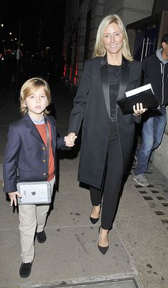 Crown Princess Marie-Chantal with her youngest son, Prince Aristidis-Stavros.