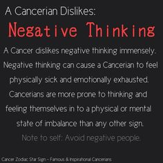 A Cancerian dislikes..