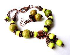 Jewelry set.Gemstone bracelet.Gemstone by Jewelry2Heart on Etsy