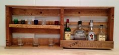 Wall Mounted Pallet Bar | 15 Perfect Handcrafted Man Cave Decor