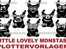 "Plottervorlage Little lovely Monstas  ""Jungen"""