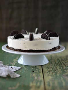 Cottage cheese Oreo no bake cake Oreo, Cottage Cheese, No Bake Cake, Panna Cotta, Cheesecake, Food And Drink, Baking, Ethnic Recipes, Kitchen