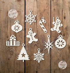 SVG / PDF Christmas Hanging Decorations by TommyandTillyDesign
