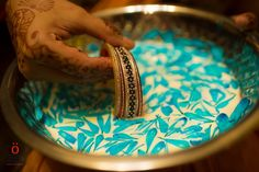 Sikh wedding bangles that is soaked in milk before the brides wears it..