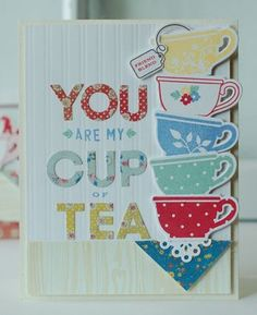 Tea For Two Revisited - My Cup Of Tea Card by Betsy Veldman for Papertrey Ink (April 2013)
