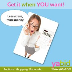 Get the maximum out of your #deals! Buy and sell with maximum success! Get it when YOU want! www.yabid.net