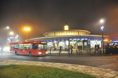 Southgate tube station, Southgate.     Many of London's tube stations are art deco in style. The flying-saucer like station at Southgate is one of the most memorable. It was designed by Charles Holden,  who created a whole clutch of stations in the 1920s and 30s.  Picture: Alamy