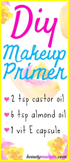 Make your own DIY makeup primer that's less clogging and works just the same as a store-bought primer. Bonus: It's way cheaper! A primer is the secret to long-lasting, vivid makeup that stays put on your skin without fading away. Have you noticed that primers always come in tiny bottles – yet they are always …