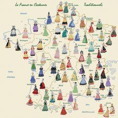 Les costumes traditionnels des provinces de France