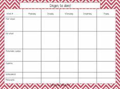 Klassenmap. Schema waarin je makkelijk kwijt kan wat je niet moet vergeten! I Love School, School S, School Classroom, Organization Station, Classroom Organisation, School Info, Teaching Schools, School Planner, Expressions